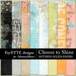 Choose to Shine HotMess Solids Paper Pack-$3.99 (Fayette Designs)