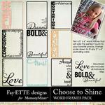 Choose to Shine Word Frames-$2.99 (Fayette Designs)