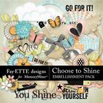 Choose to Shine Embellishment Pack-$3.99 (Fayette Designs)