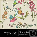 Butterflies Embellishment Pack-$3.49 (Designs by Krista)