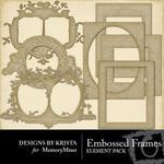 Embossed Frames-$2.99 (Designs by Krista)