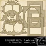 Embossed Frames-$2.99 (Designs by Krista)