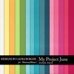 My Project June Solid Paper Pack-$3.49 (Laura Burger)