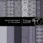 Vintage Blues Paper Pack-$3.49 (Designs by Krista)