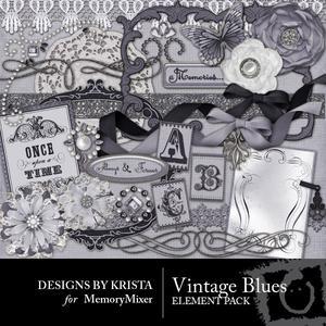 Vintage blue elements preview medium