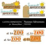 Summer Adventures Freebie-$0.00 (Lasting Impressions)