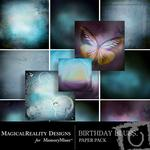 Birthday Blues Paper Pack-$3.99 (MagicalReality Designs)