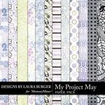 My Project May Pattern Paper Pack-$3.49 (Laura Burger)