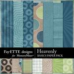 Heavenly Basics Paper Pack-$3.99 (Fayette Designs)
