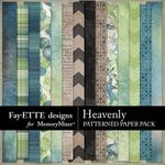 Heavenly Patterned Paper Pack-$3.99 (Fayette Designs)