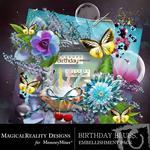 Birthday Blues Embellishment Pack-$1.75 (MagicalReality Designs)