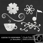 Chalk Talk 2 Embellishment Pack-$2.99 (Albums to Remember)