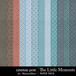 The Little Moments Pattern Paper Pack-$1.99 (Lindsay Jane)