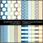 Orange Cream and Cabanas Basic Paper Pack-$1.75 (Jumpstart Designs)