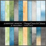 Orange Cream and Cabanas Blends Paper Pack-$2.99 (Jumpstart Designs)