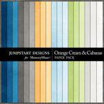 Orange Cream and Cabanas Solid Paper Pack-$1.50 (Jumpstart Designs)
