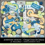 Orange Cream and Cabanas Spare Parts-$2.49 (Jumpstart Designs)