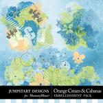 Orange Cream and Cabanas Splatters-$2.49 (Jumpstart Designs)