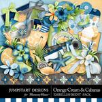 Orange Cream and Cabanas Embellishment Pack-$5.99 (Jumpstart Designs)