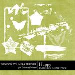 Happy LB White Stamps-$2.49 (Laura Burger)