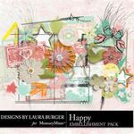Happy LB Embellishment Pack-$1.75 (Laura Burger)