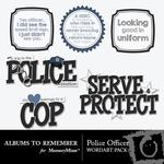 Police Officer WordArt-$2.49 (Albums to Remember)