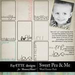 Sweet Pea Word Frames-$1.99 (Fayette Designs)