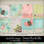 Sweet Pea Journal Cards-$2.49 (Fayette Designs)