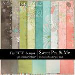 Sweet Pea Hotmess Solids Paper Pack-$3.99 (Fayette Designs)