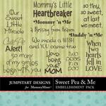 Sweet Pea and Me WordArt Pack-$2.49 (Jumpstart Designs)