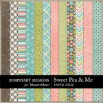 Sweet Pea and Me Patterned Paper Pack-$3.49 (Jumpstart Designs)