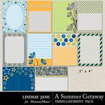 A Summer Getaway Journal Cards-$1.39 (Lindsay Jane)