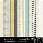 Sunny With Blue Skies Paper Pack-$1.99 (Krista Sahlin)