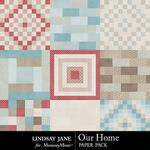 Our Home Quilt Paper Pack-$1.39 (Lindsay Jane)