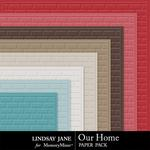 Our Home Embossed Paper Pack-$1.39 (Lindsay Jane)