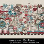 Our Home Embellishment Pack-$2.44 (Lindsay Jane)