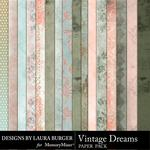 Vintage Dreams Paper Pack-$3.49 (Laura Burger)