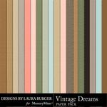 Vintage Dreams Cardstock Paper Pack-$1.25 (Laura Burger)