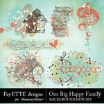 One Big Happy Family Background Fancies-$1.00 (Fayette Designs)
