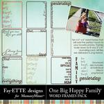 One Big Happy Family Word Frames-$1.00 (Fayette Designs)