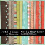 One Big Happy Family Basic Paper Pack-$3.99 (Fayette Designs)