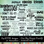 One Big Happy Family WordArt-$2.99 (Fayette Designs)