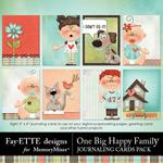 One Big Happy Family Journal Cards-$2.49 (Fayette Designs)