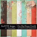 One Big Happy Family Hotmess Solids-$3.99 (Fayette Designs)