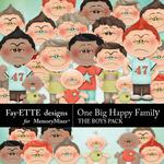 One Big Happy Family The Boys-$1.00 (Fayette Designs)