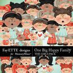 One Big Happy Family The Girls-$3.99 (Fayette Designs)