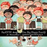 One Big Happy Family Parents and Pets-$3.49 (Fayette Designs)