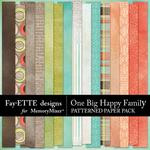 One Big Happy Family Patterned Paper Pack-$3.99 (Fayette Designs)