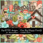 One Big Happy Family Combo Pack-$2.50 (Fayette Designs)