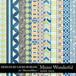 Mister Wonderful Patterned Paper Pack-$3.49 (Laura Burger)
